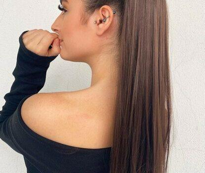 saç toplama şekilleri, at kuyruğu, at kuyruğu şeklinde saç toplama